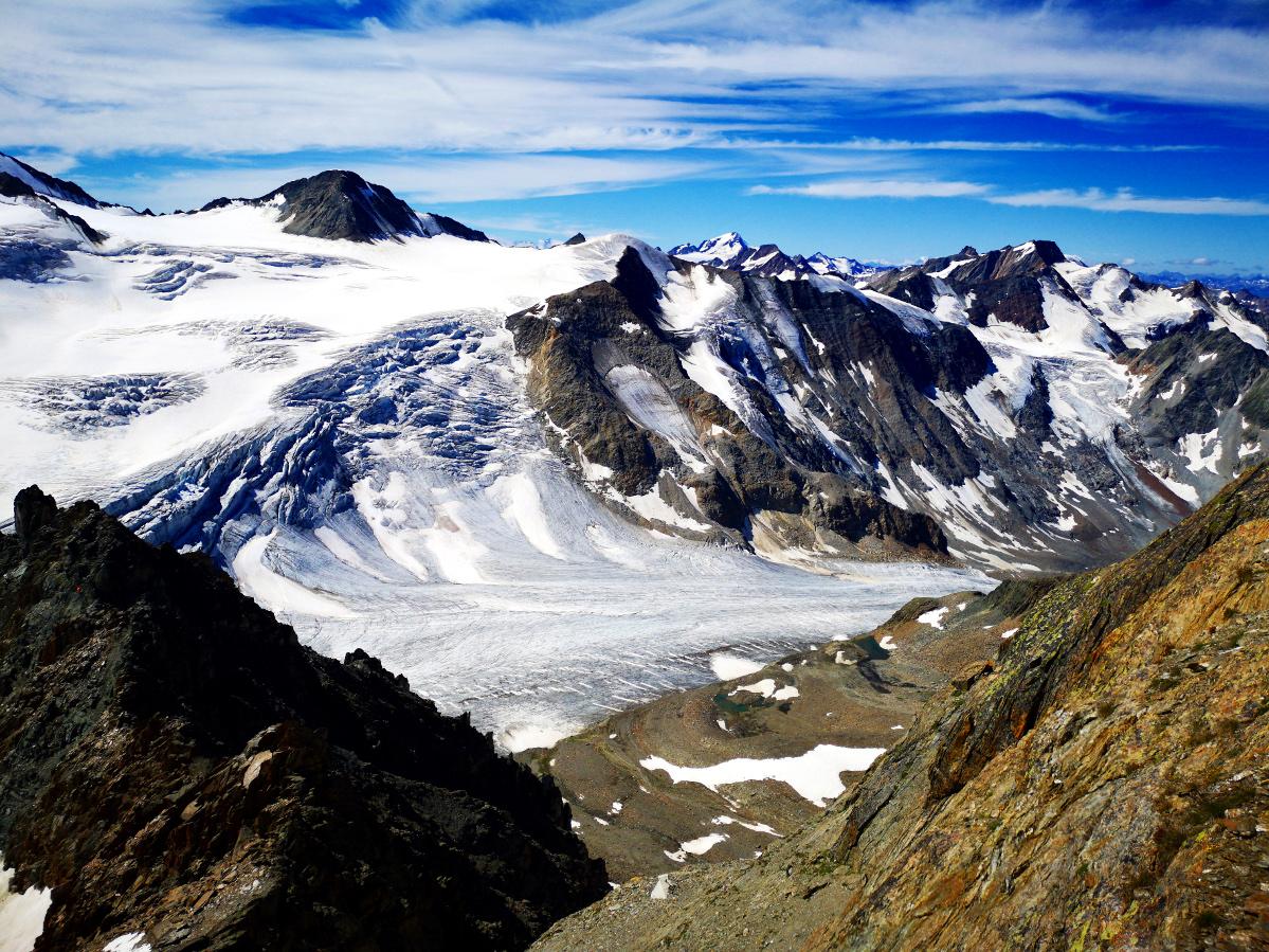 Piztaler Gletscher auf alt getrimmt