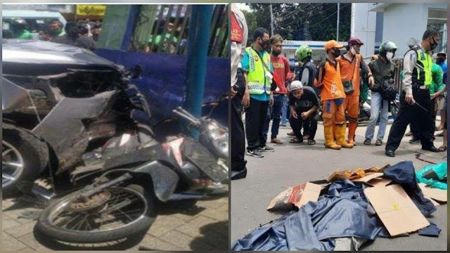 Polisi Ugal-ugalan Tabrak Tiga Motor, Ibu Muda Tewas, Satu Luka Berat di Ragunan