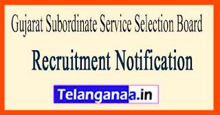 Gujarat Subordinate Service Selection Board GSSSB Recruitment Notification 2017