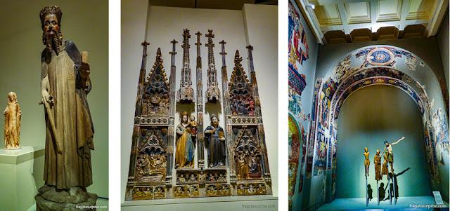 Peças das coleções Românica e Gótica do MNAC de Barcelona
