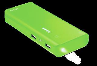 trust power bank portatile 10000mah 22748 verde