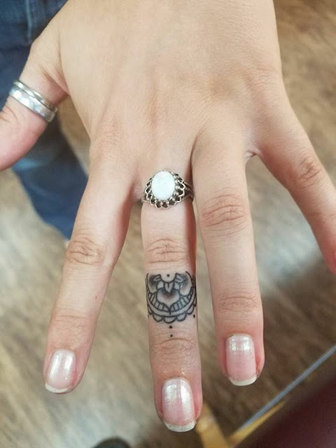 Super Cute Mandala Finger Tattoos