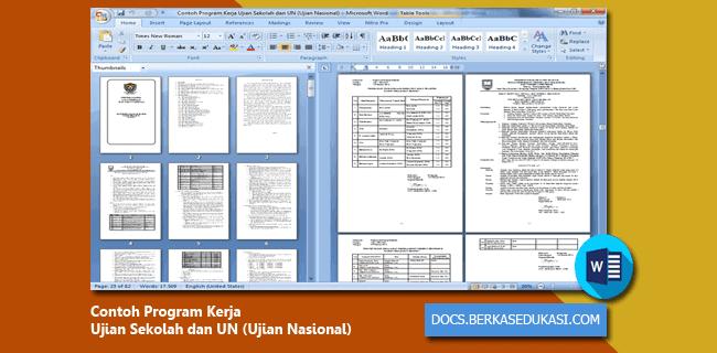 Contoh Program Kerja Ujian Sekolah dan UN (Ujian Nasional)