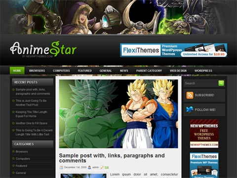 AnimeStar Wordpress Themes