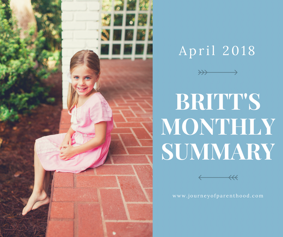 Britt Monthly Summary: April 2018