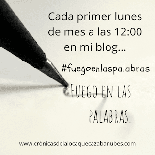 Primer cartel/logo oficial en Fuegoenlaspalabras