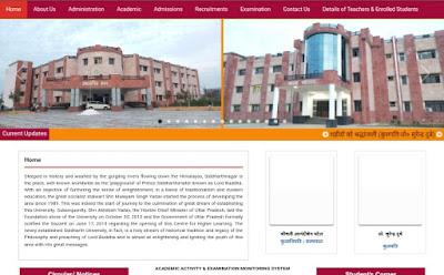 Photo | Siddharth University kapilvastu Siddharthnagar Result 2020