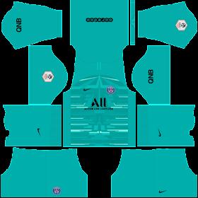 Kits/Uniformes para FTS 15 y Dream League Soccer: Kits/Uniformes Paris Saint Germain - Ligue 1 2019/2020 - FTS 15/DLS