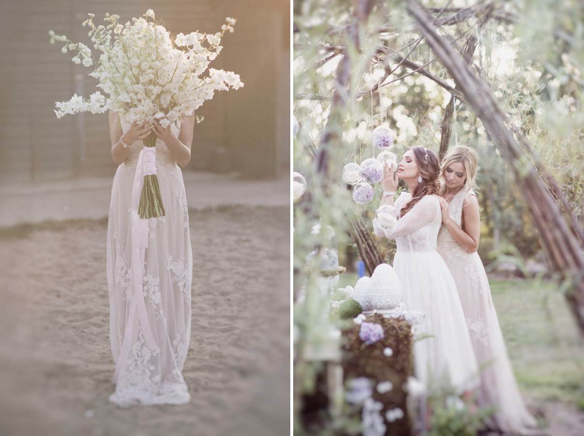 Letnia sesja ślubna na wsi.