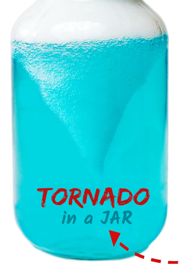 Wow the kids and make a tornado in a jar!  This simple science activity is great for kids of all ages and contains the mess- gotta love that! #sciencefairprojects #scienceexperimentskids #scienceexperiments #tornadosciencefairproject #tornadoinabottle #tornado #tornadoinajar #tornadoexperiment