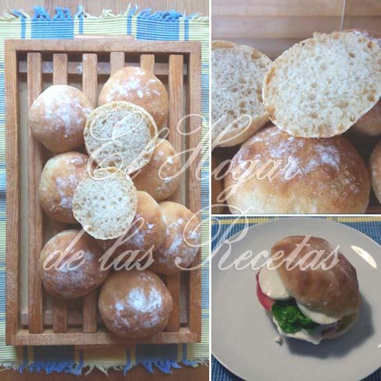 Bollos de pan con sésamo molido