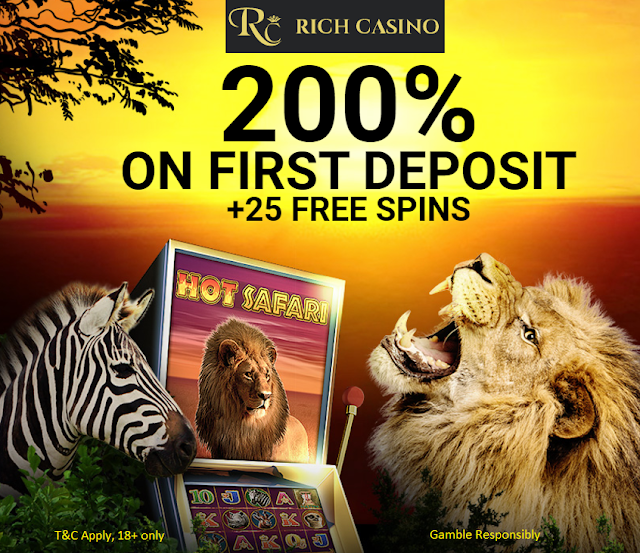 Rich Casino 25 Free Spins and 200% Welcome Match Bonus