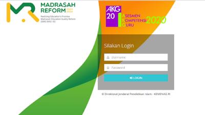 Aplikasi Asesmen Kompetensi Guru (AKG) Tahun 2020