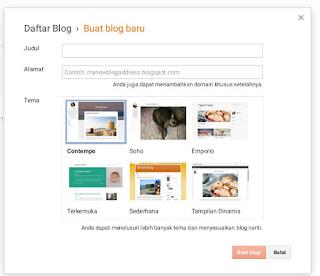 cara mudah membuat blog di android