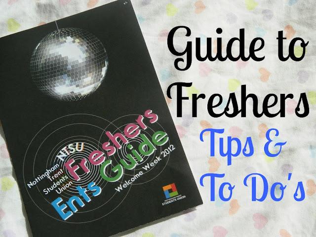 Guide to Freshers Week