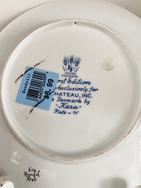 """Decor Danmark First Edition Made exclusively for Chateau, Inc.  in Denmark by """"Kesa"""" Plate - 95"""