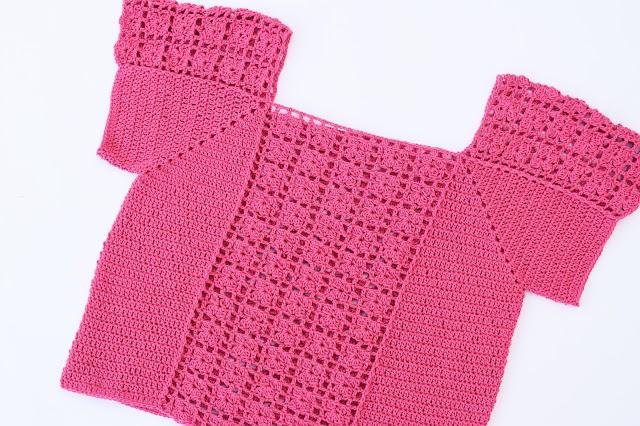 4 - Crochet Imagen Blusa veraniega a crochet y ganchillo por Majovel Crochet