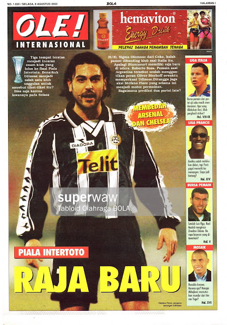 INTERTOTO CUP 2000 STEFANO FIORE UDINESE
