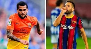 Jordi Alba level up with Dani Alves in list of Barcelona most prolific defender