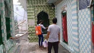 इमाम अस्र कैंसर रिसर्च सोसायटी ने धार्मिक स्थलों को किया सेनेटाइज   #NayaSaveraNetwork