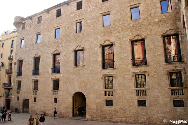 Palazzo del Lloctinent in Placa del Rei nel Barrì Gotic