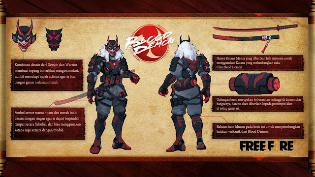 Detail dan Makna dari Elite Pass 17 Blood Demon Bundle