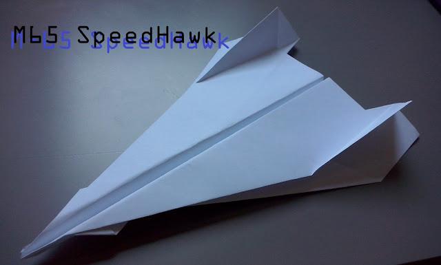 Avión de papel M-65 SpeedHawk