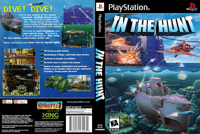 Capa In The Hunt PS1