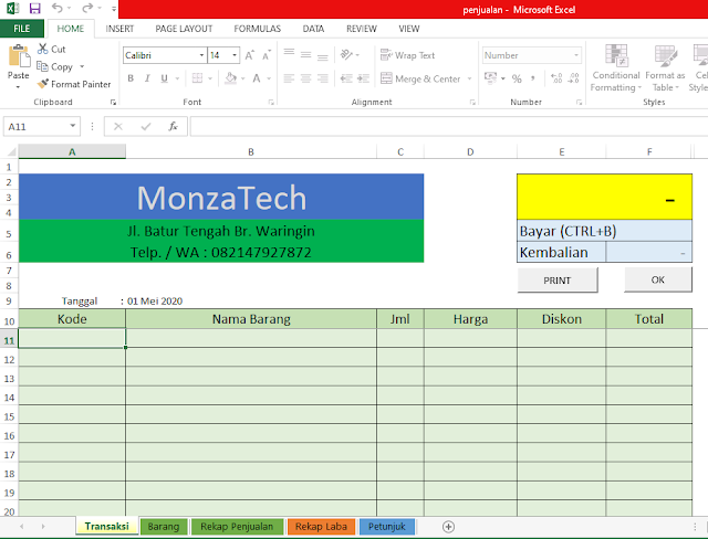 Download Aplikasi Penjualan Berbasis Excel untuk Usaha Anda