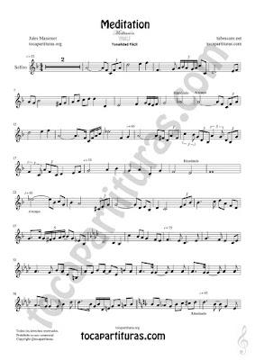 Partitura para Solfeo entonado y rítmico (Ritmo y Entonación de Meditación Easy Sheet Music for Solfeggio Music Score