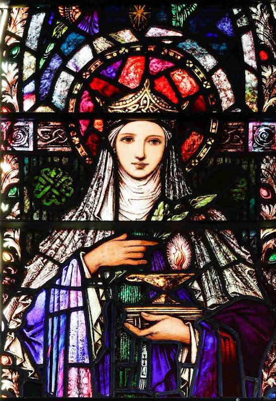 Santa Brígida de Kildare com sua lâmpada