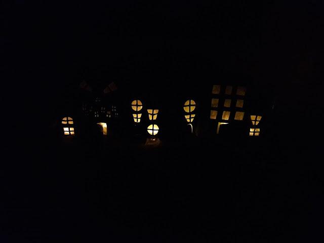 vision nocturne bricolage halloween enfant famille petits maternelle led village fantome