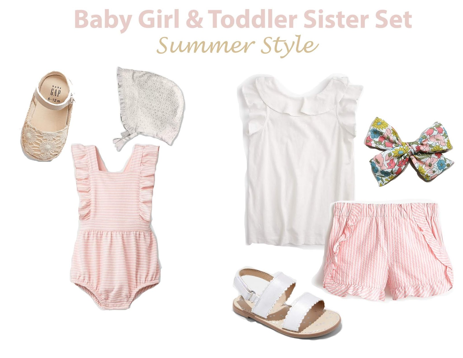 baby girl and toddler sister set outfit