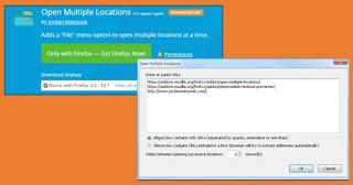 Open list of multiple link Addon Mozilla