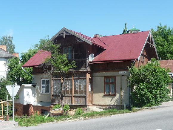 Трускавець. Дерев'яний будинок по вул. О. Довбуша