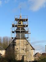 Travaux clocher église corny 27