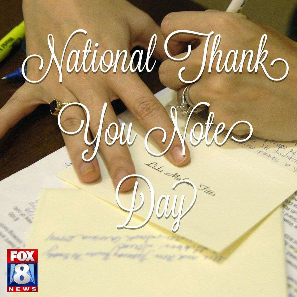 National Thank You Note Day Wishes Unique Image