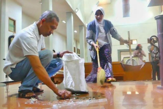 Cerita Suami Istri Muslim Ikut Bersih-bersih Gereja Santa Lidwina Bedog