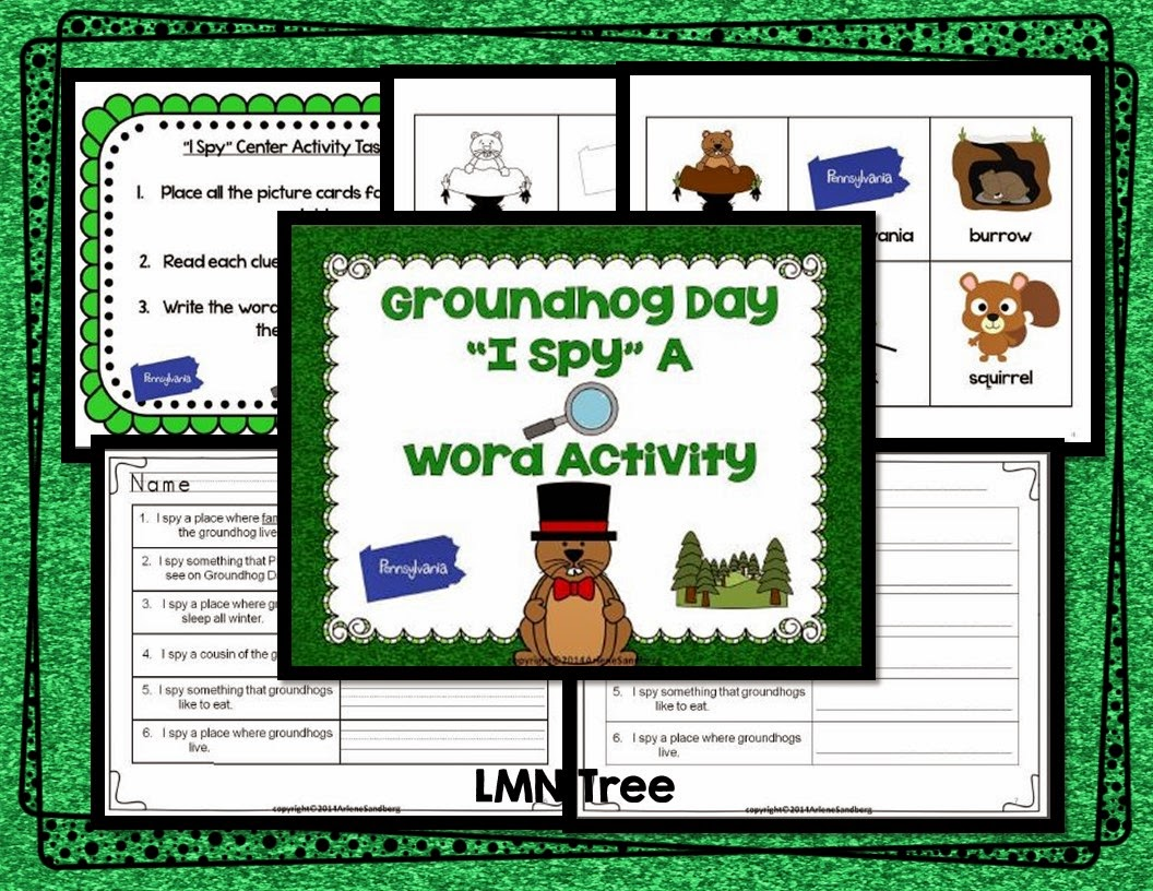 Classroom Freebies Groundhog Day I Spy Activity Packet