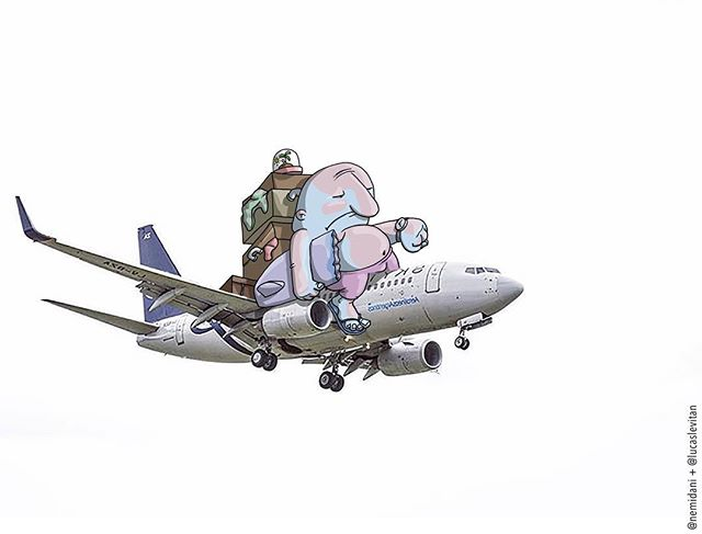 foto unik lucu kreatif dan inovatif foto asli yang dipadukan dengan kartun-15
