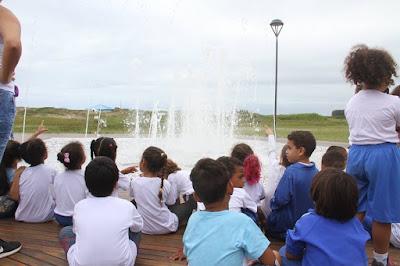 Ilha comemorou dia mundial da água com ligação da fonte da orla, no Marusca, e ações de educação ambiental