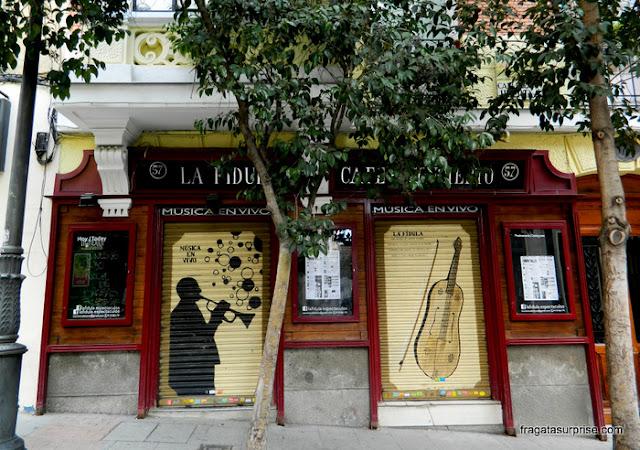 casa noturna no Barrio de las Letras, Madri
