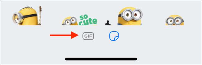 اضغط على أيقونة GIF