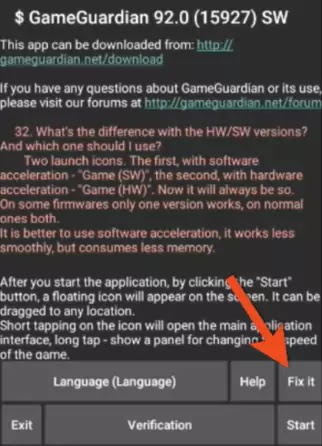 GameGuardian fix it