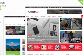 Axact Responsive Blogger Theme 3.1