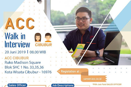 Info Lowongan Kerja Astra Credit Sales Officer