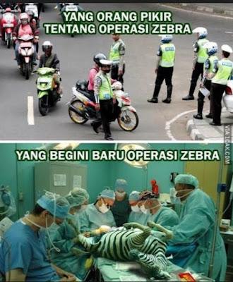 11 Meme 'Operasi Zebra' Ini Lucu Banget Bikin Ngakak Pak Polisi