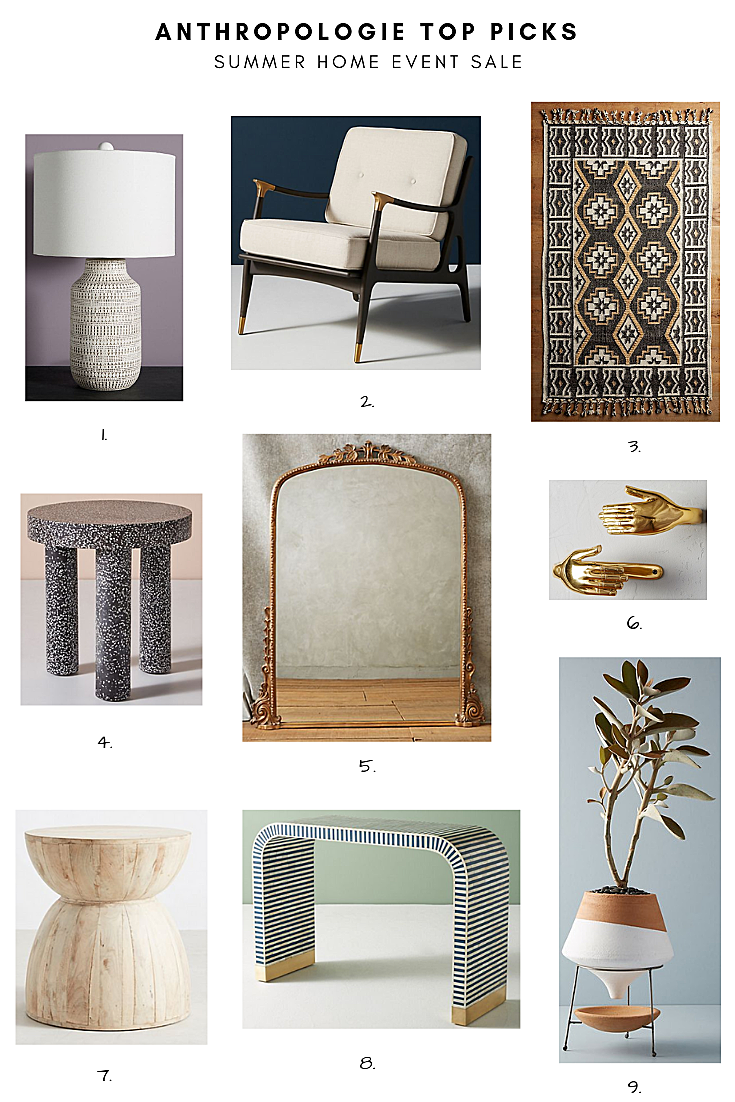 Anthropologie's Summer Home Event Top Picks