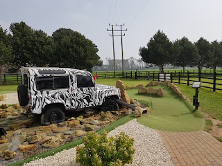 Out of Bounds Adventure Golf course at Rustington Golf Centre in Angmering