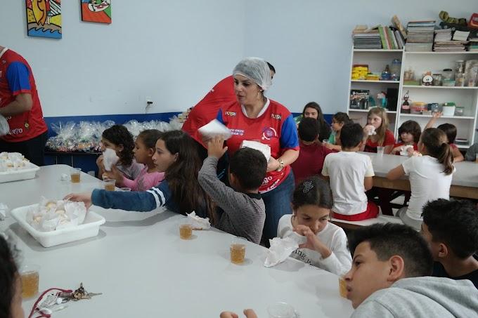 Onze Solidário realiza festa para crianças do Projeto Gaditas